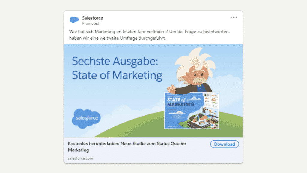 Linkedin Anzeigen Beispiel fur Ebook Download Salesforce